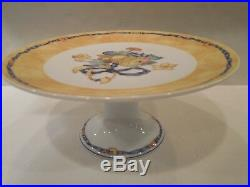Bernardaud Limoges Borghese Pedestal Cake Plate Footed Stand