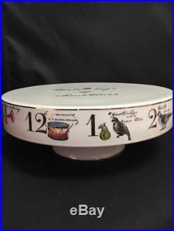 Better Homes & Gardens 12 Days of Christmas Pedestal Cake Stand Porcelain 12