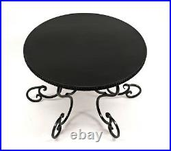 Black Wedding Cake Stand, Scroll Pedestal Stand, Wedding Cake Stand, Cake Plate