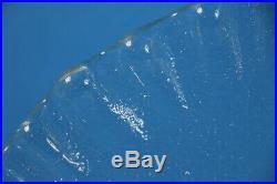 Blenko Art Glass Ice Floe Cake Serving Plate Tray Platter Pedestal Don Shepherd