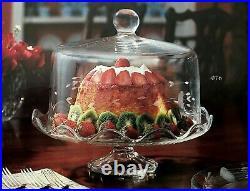 Brand New Princess House 076 Heritage Pedestal Domed Cake Plate
