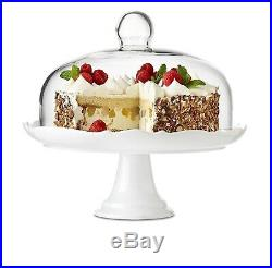 Brilliant Bianco Pedestal Cake Plate and Dome 27cm (10.5 inches)