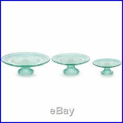 Burton & Burton Cake Pedestal Glass Mint Green 1V3