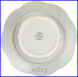 (Cake Plate, Ice Blue) Lenox French Perle Pedestal Cake Plate, Medium, Ice