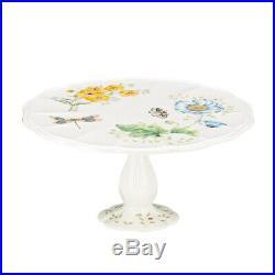 (Cake Plate) Lenox Butterfly Meadow Pedestal Cake Plate Medium 25cm