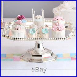 Cake Plate Metal Decorative Dessert Pedestal Birthday Wedding Cupcake Stand