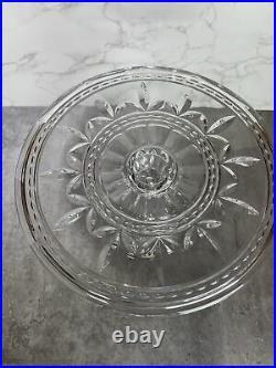 Cake Stand Bohemia 24% Lead Crystal Czech Republic Pedestal Cake Plate Gorgeous