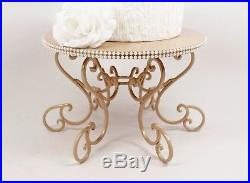 Champagne Pearl Cake Stand, Scroll Pedestal Stand, Wedding Cake Stand, Cake Plate