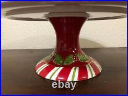 Christopher Radko Letters To Santa Christmas Pedestal Cake Plate Stand 12.5
