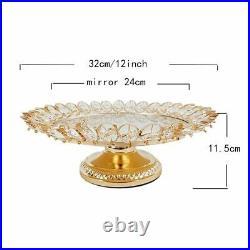 Crystal Cake Stands Holder Party Dessert Pedestal Display Plate Home Decorations