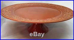 Daniel Cremieux Maison Terracotta St Barth's Vine Pedestal Cake Plate Stand