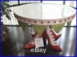 Department 56 Krinkles Pedestal High Heel Shoe Cake Plate Patience Brewster
