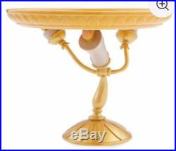 Disney Store Beauty and the Beast Lumiere Candlestick Cake Plate Pedestal New