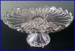 Duncan & Miller Mardi Gras Antique Eapg Pedestal Cake Plate