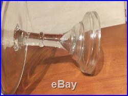 EAPG Antique BAKERY Glass RING STEM High Standard 10 CAKE STAND Pedestal Plate