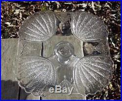 EAPG George Duncan SHELL & TASSEL #155 Square Pedestal Cake Stand Plate C 1880's