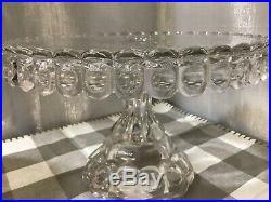 EAPG Pedestal Clear Cake Plate