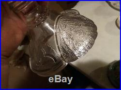 EAPG Shell & Tassel Square Cake Stand Pedestal Plate Salver 1880 Duncan Glass