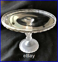 EAPG THREE FACES Pattern Pedestal 9 CAKE STAND CAKE PLATE George Duncan & Son