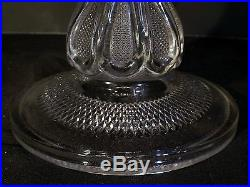 EAPG US Glass Texas Pattern Loop Stippled Panel Pedestal Cake Stand Plate 10.4