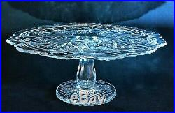 EARLY Imperial Glass 402 1/2 Fashion Pedestal Wedding Cake Stand Plate X LG
