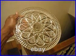 Eapg Pedestal Cake Plate Salver Saw Tooth Edge Rum Well