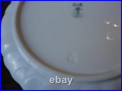 England Crown Staffordshire 6 Dessert Plate + 1 Pedestal Cake Stand Scalloped
