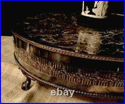 English Silver Plate Plateau Stand Cake Plate Plinth Display Pedestal