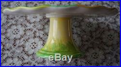 Extremely Rare Collectible Vietri Pedestal Cup Cake Easter Lamb Plate Italy