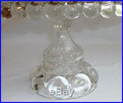 Eyewinker Clear Glass Pedestal Cake Plate, Dalzell Gilmore & Leighton Co