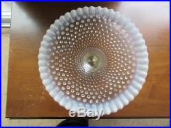 Fenton French White Opalescent Hobnail Glass Footed Pedestal Cake Stand Plate