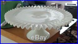 Fenton Hobnail Milk Glass 13 Pedestal Cake Plate Stand