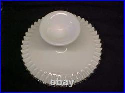 Fenton Silvercrest 11 Pedestal Spanish Lace Cake Plate / Pastry Server Ruffled