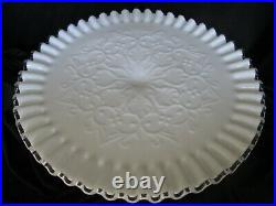 Fenton Silvercrest CAKE PLATE PEDESTAL STAND Spanish Lace 11 wide