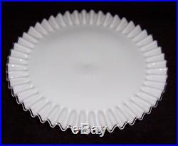 Fenton Silvercrest Milk Glass Pedestal Cake Plate