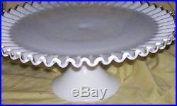 Fenton Silvercrest Ruffled Edge Pedestal Cake Plate -stunning