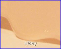 Fenton Spanish Lace c1950 Pink Milk Glass Cake Stand Pedestal Plate Ltd Edition