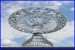 Fine Waterford Irish Cut Crystal Comeragh 10 Pedestal Cake Plate