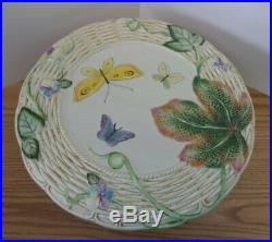 Fitz & Floyd OLD WORLD RABBIT Cake Plate StandFooted PedestalExc. Cond. EASTER