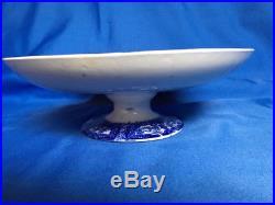 Flow Blue Kyber Pedestal Cake Plate