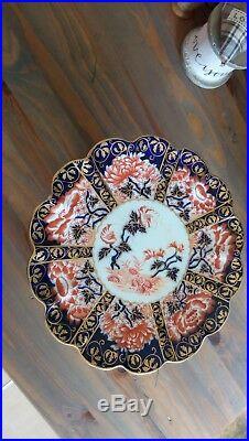 Foley Wileman Pedestal Cake Plate, Antique Imari 6664 -Pre-Shelley