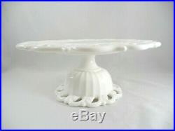 Fostoria MONROE 11 Milk Glass Pedestal Cake Stand Plate