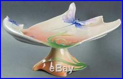 Franz Collection Porcelain Dragonfly Design Sculptured Pedestal Cake Plate FZ004