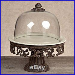 GG Collection Cake Pedestal with Dome and Plate Cream