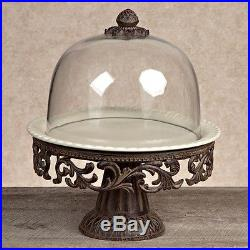 GG Collection Cake Pedestal with Dome and Plate New