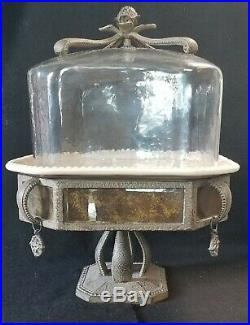 GG Collection Gracious Goods Versailles Pedestal Cake with Dome & Plate