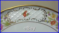 Gorgeous Schumann Bavarian Empress Dresden Flower Pedestal Cake Plate 12.5