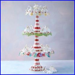 Glitterville Christmas Pedestal Plate Cake Stand, St/3, Ceramic, 7.5, 9, 10.5
