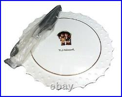 Goebel Hummel Stormy Weather Footed Cake Plate & Cake Knife Set By Danbury