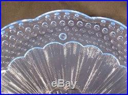 Gorham Crystal Emily's Attic Blue Pedestal Cake Plate